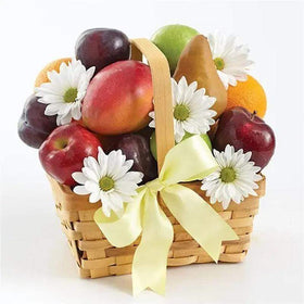GIVOPOLY Food Fresh Fruit & Flowers Basket