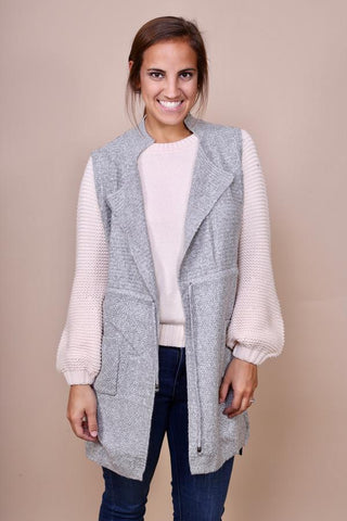 Sweater Vest - Light Gray