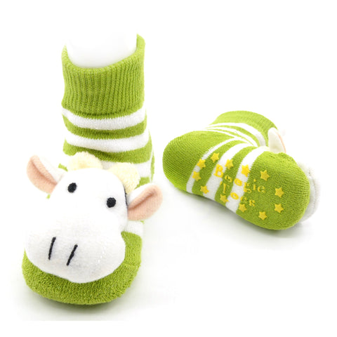 Boogie Toes Rattle Socks - Cow