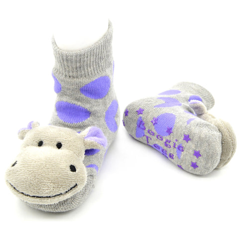 Boogie Toes Rattle Socks - Hippo