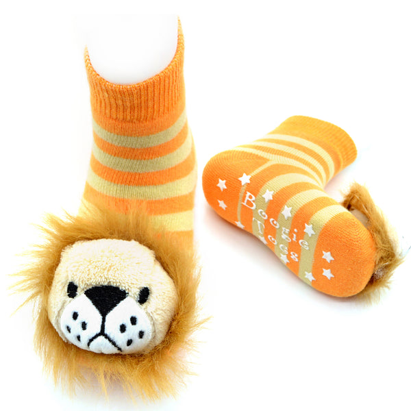 Boogie Toes Rattle Socks - Lion