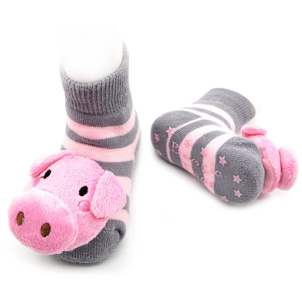 Boogie Toes Rattle Socks - Pig
