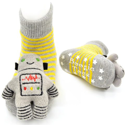 Boogie Toes Rattle Socks - Robot