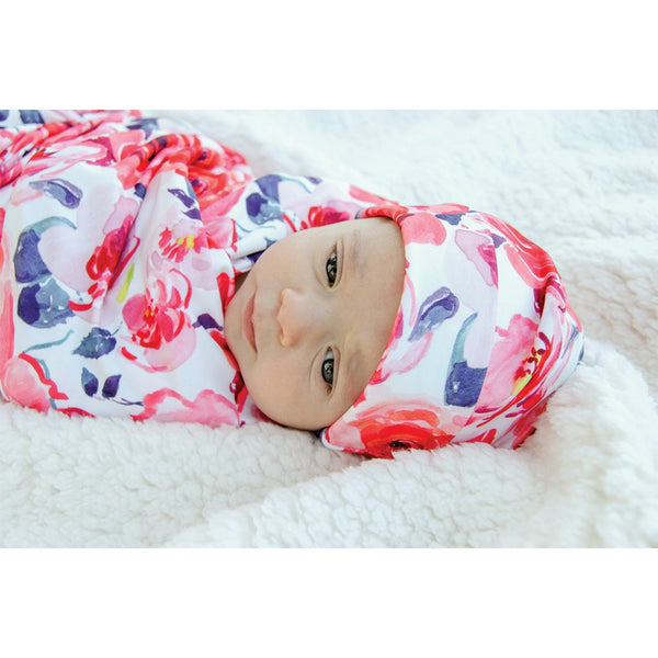 Baby Gown - Rose Floral
