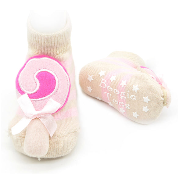 Boogie Toes Rattle Socks - Lollipop
