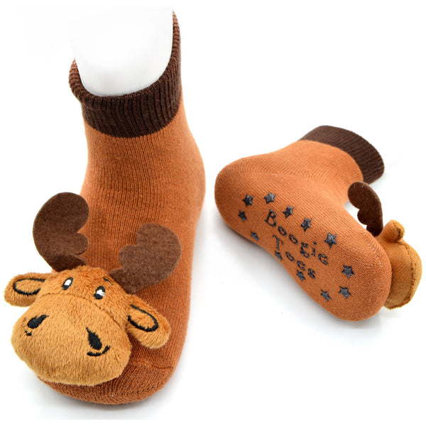Boogie Toes Rattle Socks - Moose