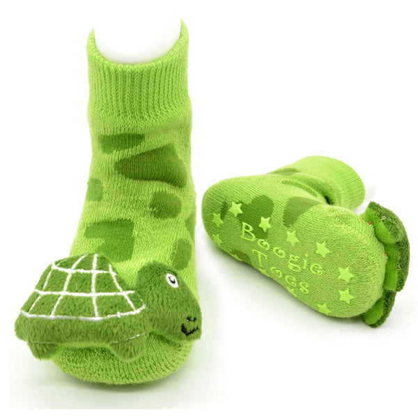 Boogie Toes Rattle Socks - Turtle