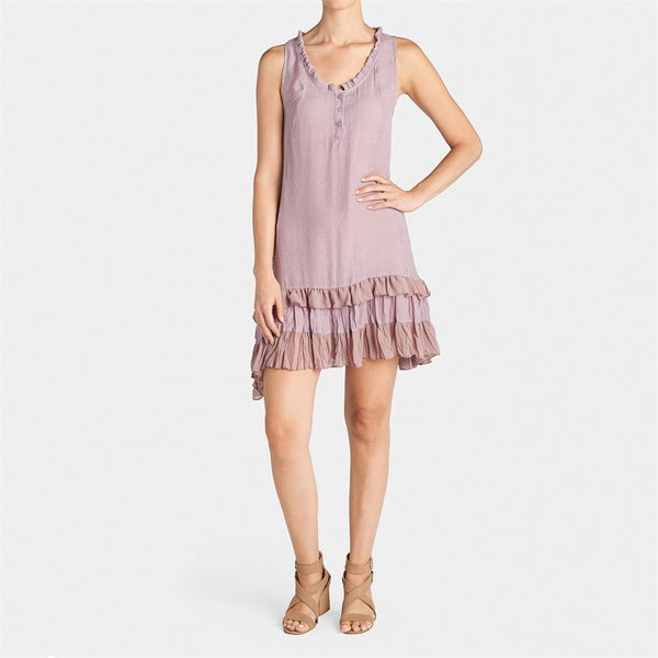 Ruffle Bottom Dress - Dusty Plum