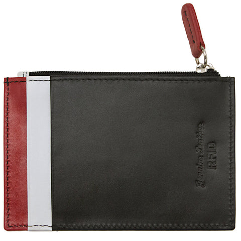 Credit Card Holder w Zip Pocket  RFID Protected