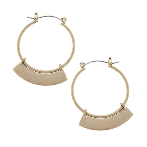 Architectural Hoop Earrings - Gold