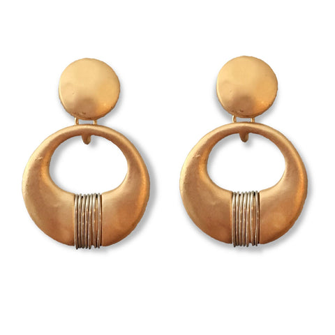 Earrings - Gold Drop
