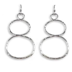 Earrings - Double Circle