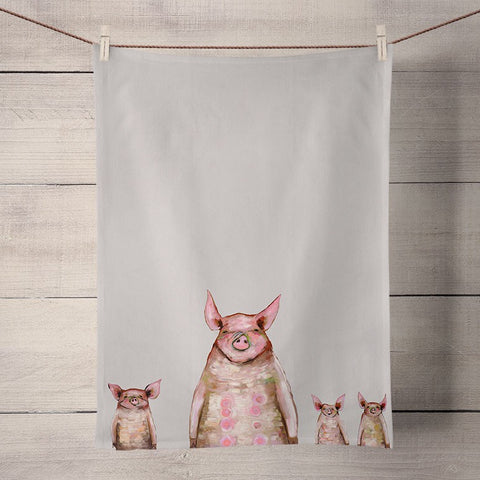 Kitchen Towel - Four Piggies In A Row