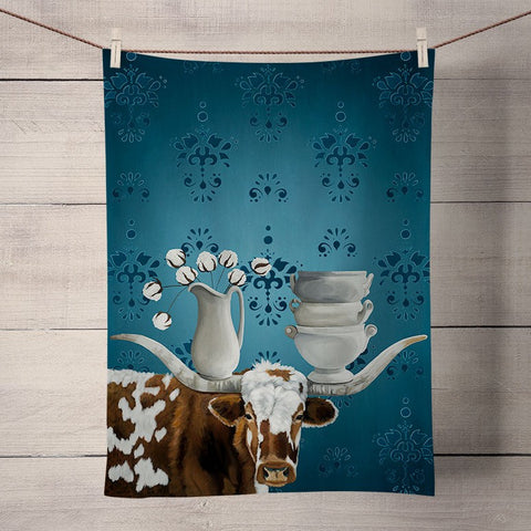 Kitchen Towel - Longhorn and Ironstone