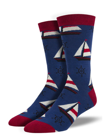 Men's Socks - Sailboat