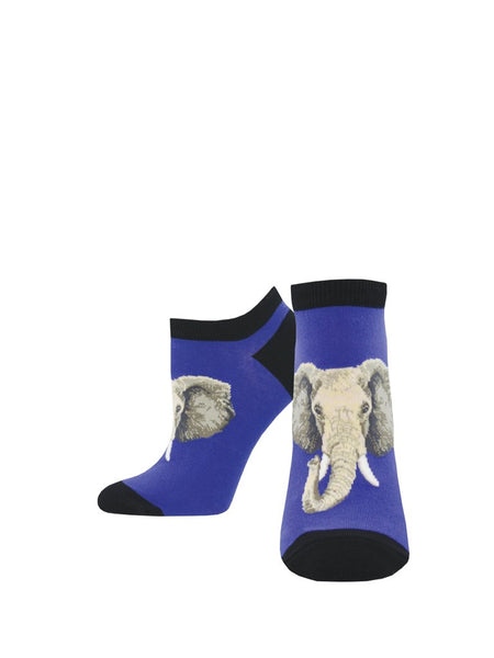 Women's Shortie Socks -Elephant