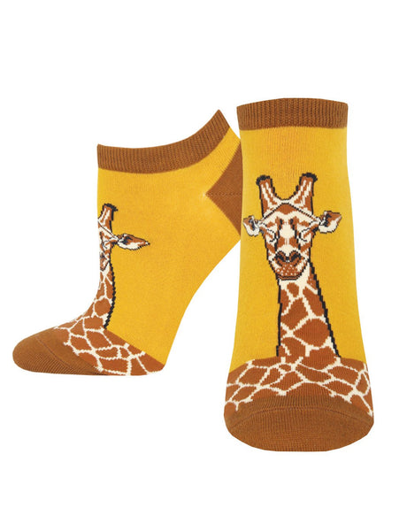 Women's Shortie Socks - Giraffe