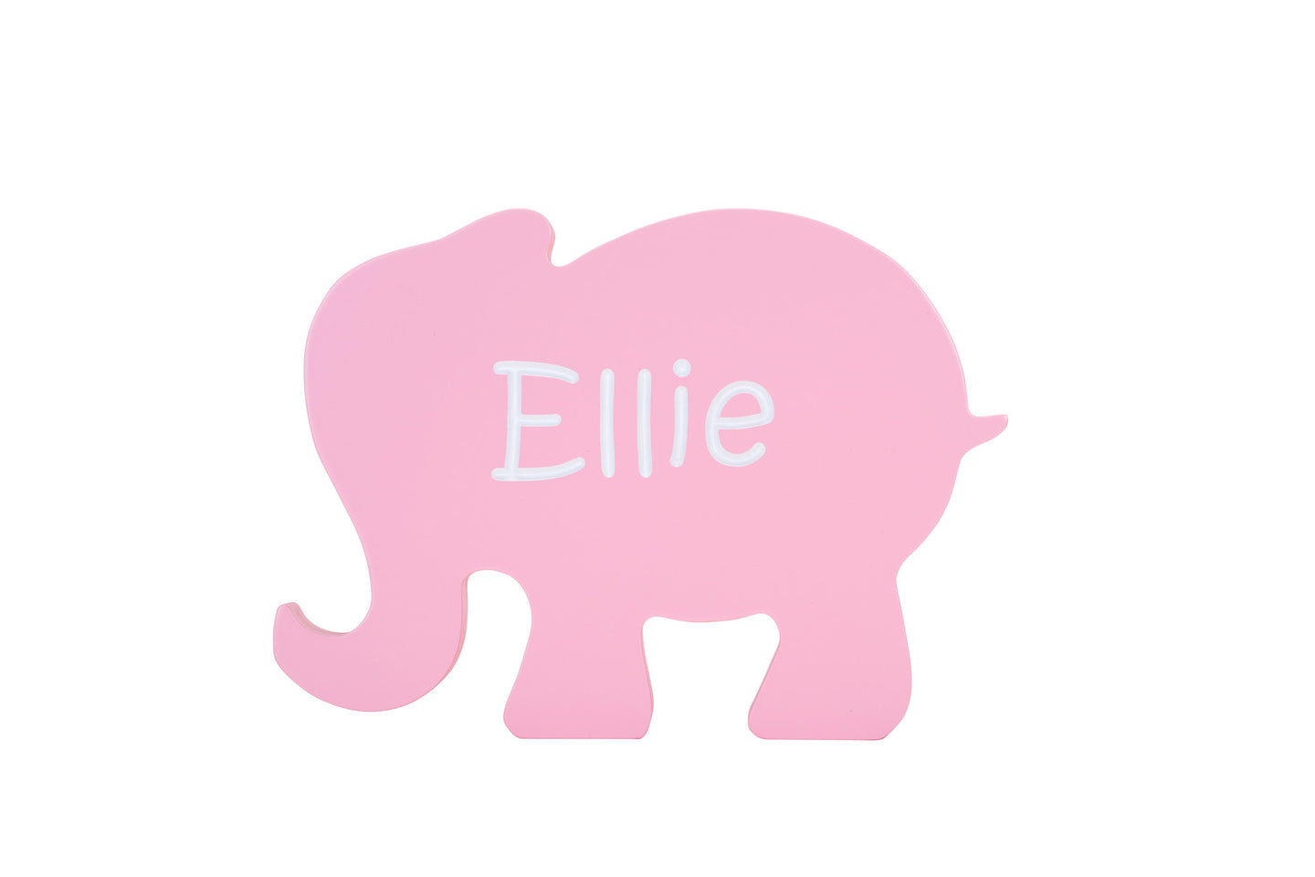 Children's Personalized Elephant Shaped Carved Wooden Sign