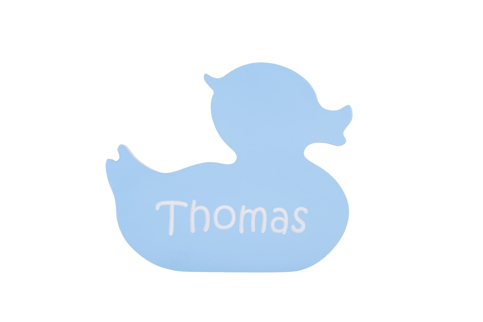 Children's Personalized Duck Carved Wooden Sign