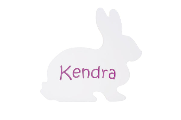 Children's Personalized Bunny Carved Wooden Sign