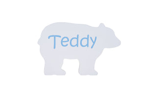 Children's Personalized Bear Carved Wooden Sign