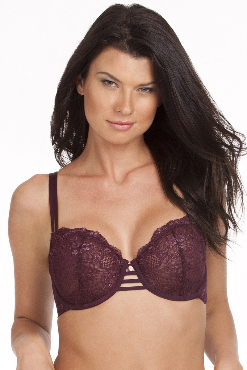 Balconette Bra - Bordeaux Lace