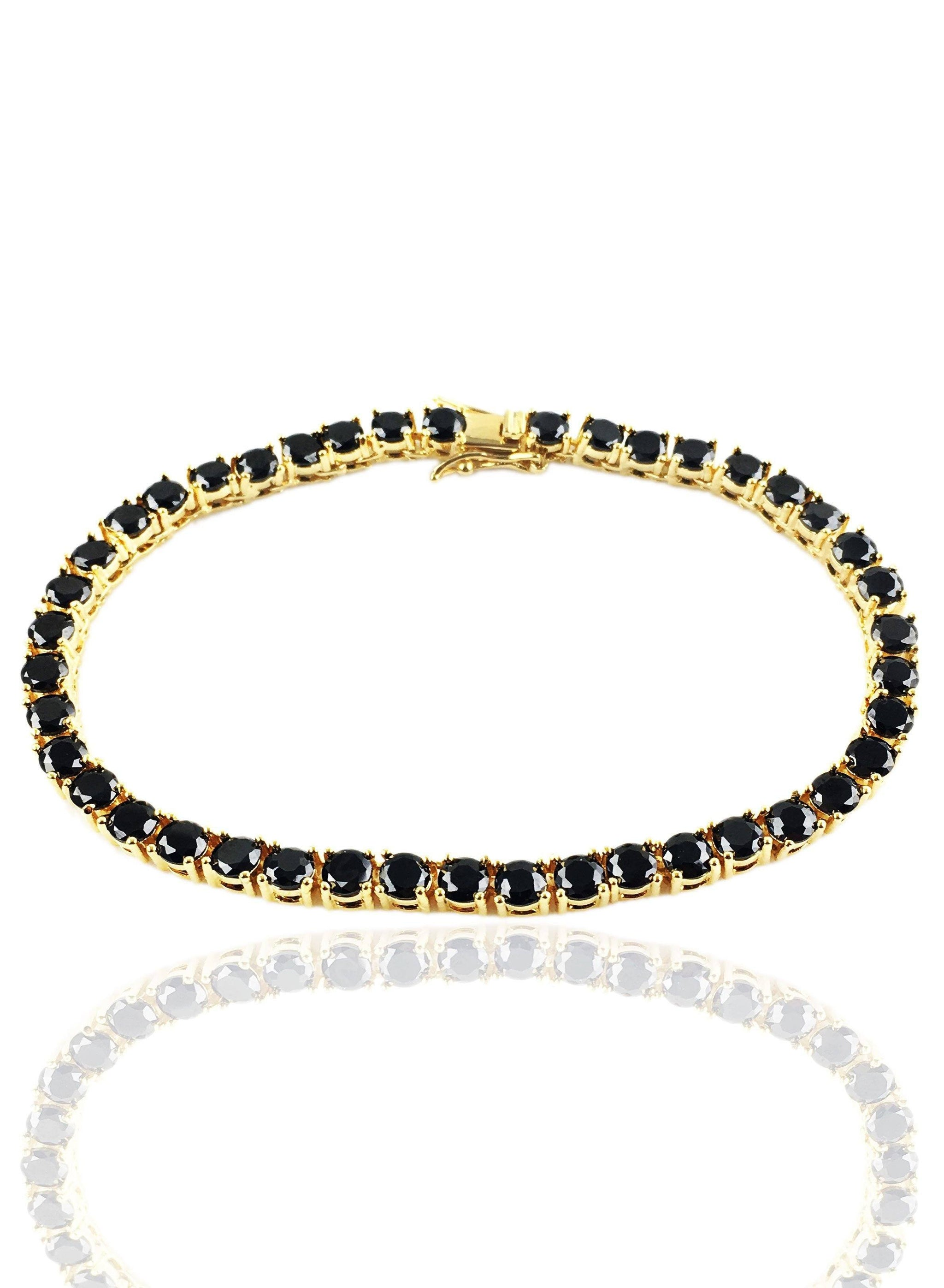 black diamond product gold bracelet fine jewelry jhanna white horseshoe