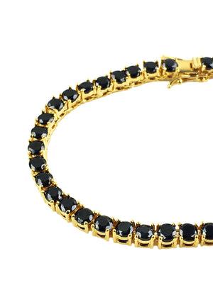 Bracelet - Black Diamond Tennis Bracelet X 18k Gold