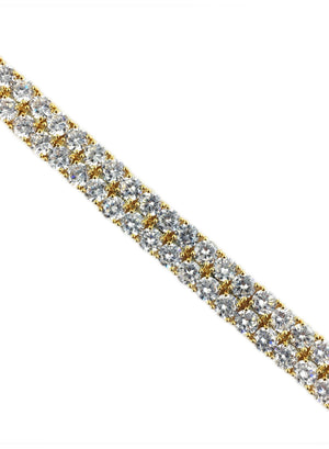 Bracelet - Double Stacked Diamond Tennis Bracelet X 18k Gold