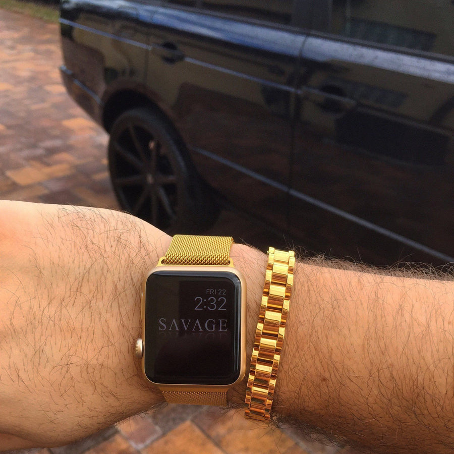 Caspian Band X 18k Gold For Apple Watch