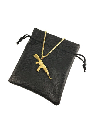 Necklace - AK-47 X 18k Gold