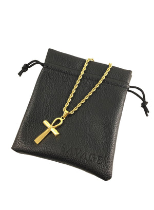 Necklace - Ankh X 18k Gold