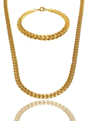 Necklace - Apache Chain & Bracelet Set X Gold