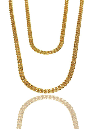Necklace - Apache Chains Layered Set X 18k Gold