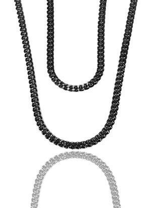 Necklace - Apache Chains Layered Set X BLΛCK