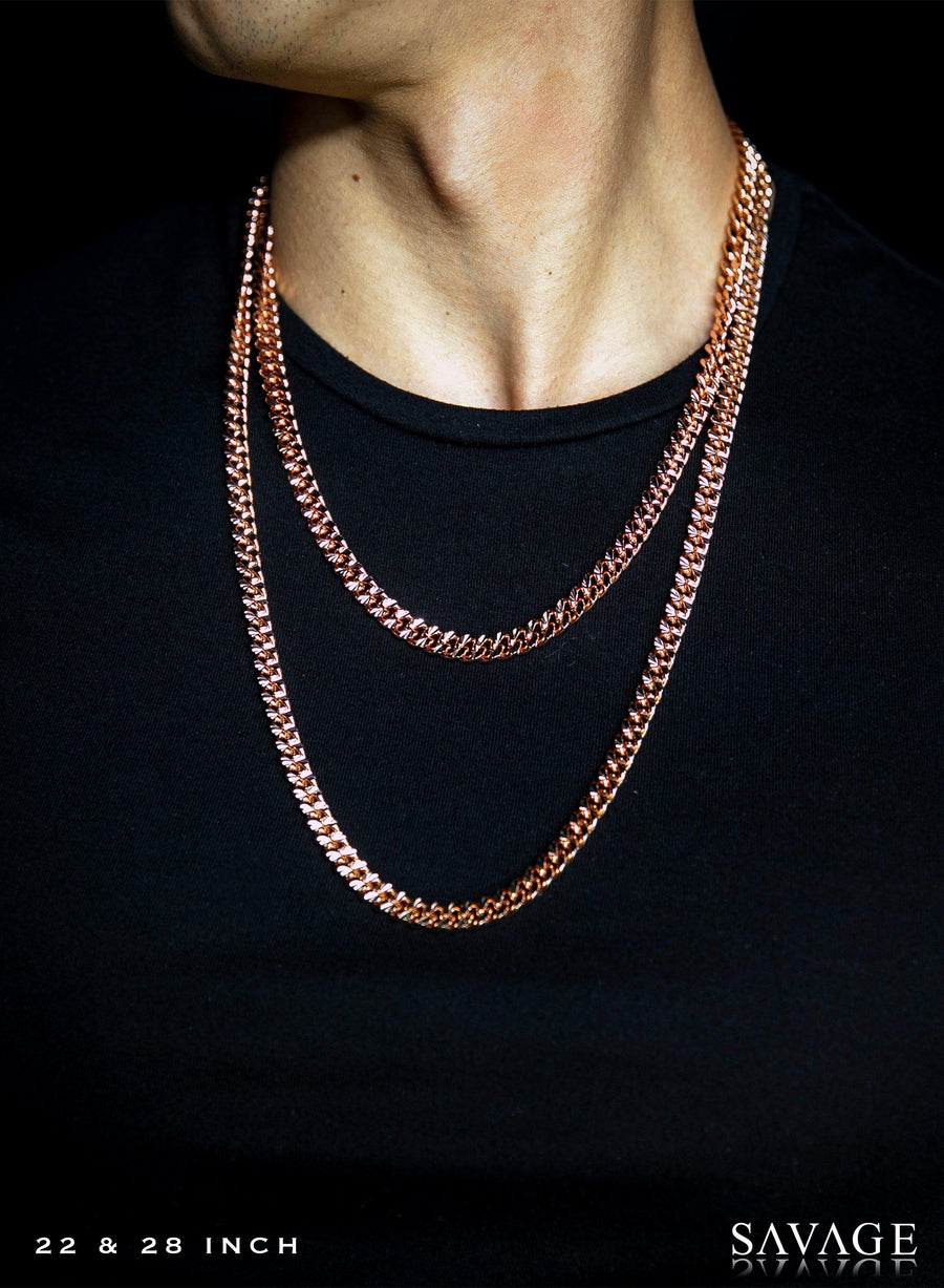 Necklace - Apache Chains Layered Set X 18k Rose Gold