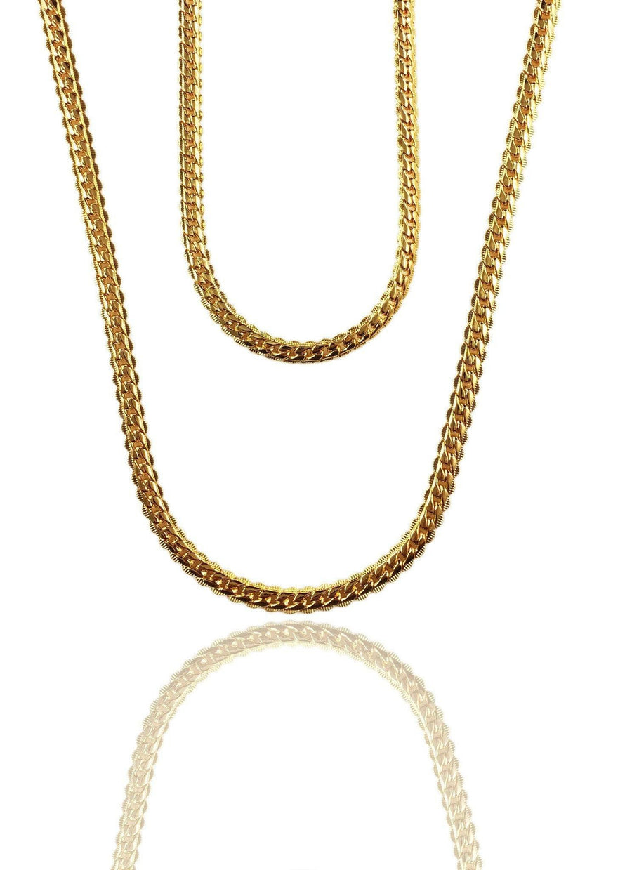 Necklace - Cadena Chains Layered Set X Gold