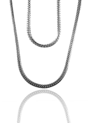 Necklace - Cadena Chains Layered Set X Stainless