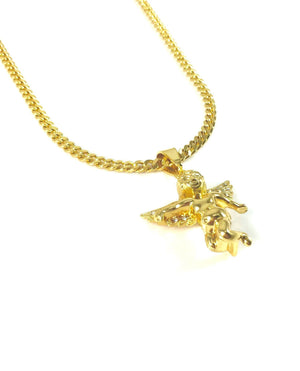 Necklace - Cherub Angel X 18k Gold