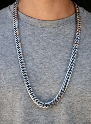Necklace - Cuban Link Chain & Bracelet Set X Stainless