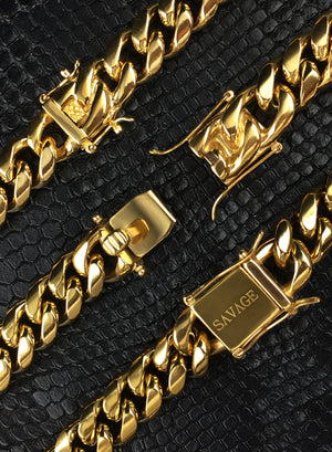 Necklace - Cuban Link Set X Gold