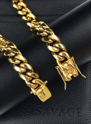 Necklace - Cuban Links Layered Set X Gold