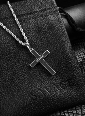 Necklace - Diamond Cross X White Gold