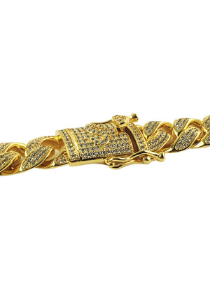 Necklace - Diamond Cuban Link Bracelet X Gold