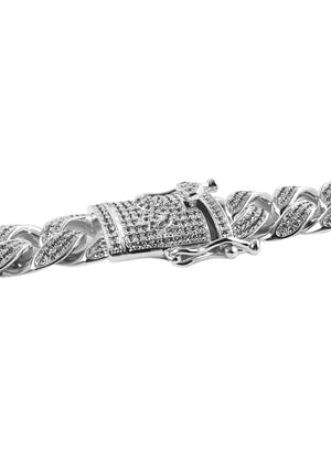 Necklace - Diamond Cuban Link Bracelet X White Gold