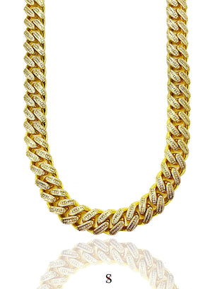 Diamond Cuban Link Chain x Gold (18mm)
