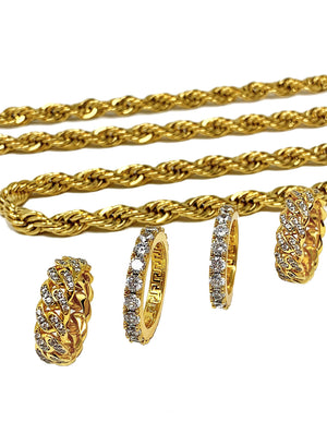 Necklace - Diamond Cuban Link Ring