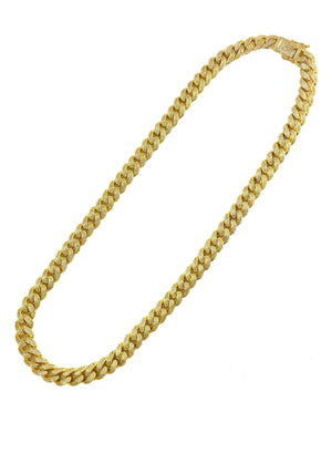 Necklace - Diamond Cuban Link X Ankh | 18k Gold