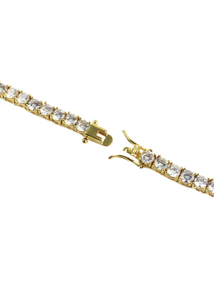 Necklace - Diamond Tennis Chain X 18k Gold