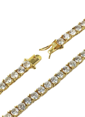 Necklace - Diamond Tennis Chains Set X 18k Gold